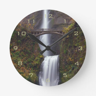 Multnomah Falls in late Autumn Round Clock