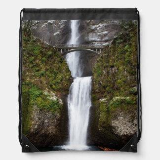 Multnomah Falls in the Columbia Gorge Drawstring Bag