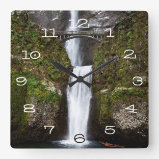 Multnomah Falls in the Columbia Gorge Square Wall Clock