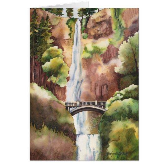 Multnomah Falls, Oregon. Blank Card