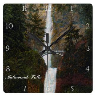 Multnomah Falls Oregon Custom Square Wall Clock