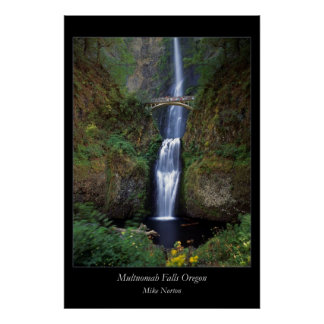 Multnomah Falls Oregon Poster