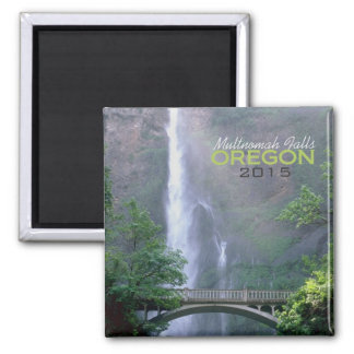 Multnomah Falls Oregon Souvenir Magnet Change Year