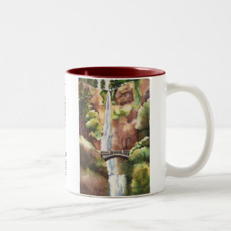 Multnomah Falls Oregon Two-Tone Coffee Mug