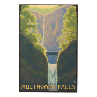 Multnomah Falls, OregonMaiden of the Falls Wood Wall Art
