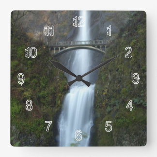 Multnomah Falls Square Wall Clock