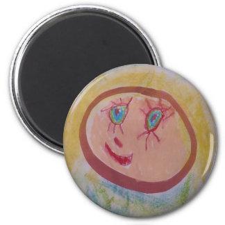 Mum! 6 Cm Round Magnet