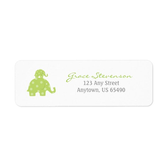 Mum and Baby Elephant Baby Labels