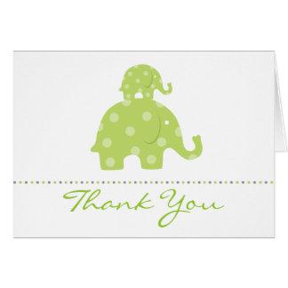 Mum and Baby Elephant Folded Thank You Card
