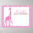Mum and Baby Giraffe Baby Shower Welcome Sign