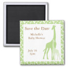 Mum and Baby Giraffe Save the Date Magnets