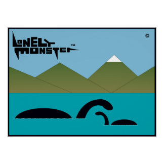Mum and Baby Lonely Monster Poster