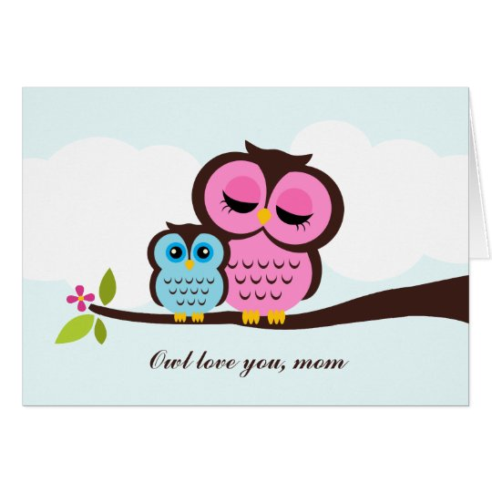 Mum and Baby Owl Mother's Day Card
