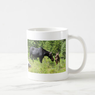 Mum and Calf Moose Mug