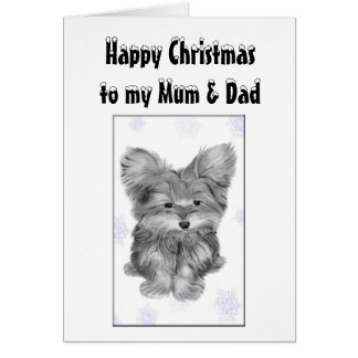 Mum and Dad Christmas Greeting Card