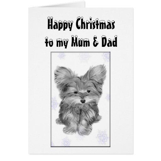Mum and Dad Christmas Greeting Card