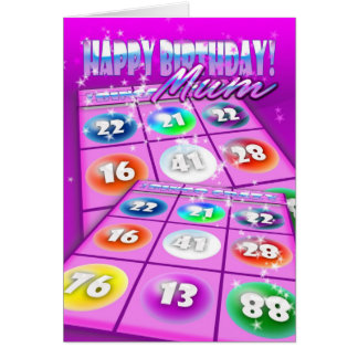 Mum Bingo Crazy Birthday Card