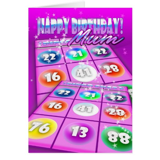 Mum Bingo Crazy Birthday Card