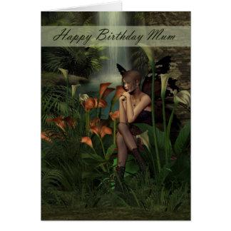 Mum Birthday card woodland fairy