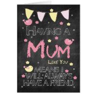Mum Birthday Chalkboard Card