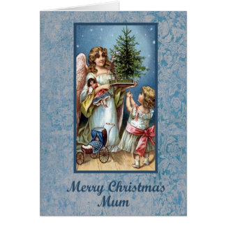 Mum Blue Christmas Card