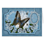 Mum, Butterfly And Rose Easter Greeting Card