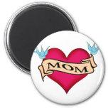 Mum - Custom Heart Tattoo T-shirts & Gifts Fridge Magnets