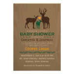 Mum, Dad & Baby Boy Deer -  Baby Shower Invitation