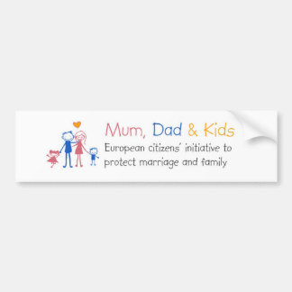 Mum Dad & Kids Bumper Sticker