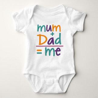 Mum + Dad = Me Baby Bodysuit