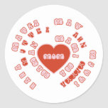Mum Different Languages (Mother's Day & Birthday) Round Stickers