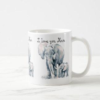 Mum Elephant mug, I love you Mum, mothers day Coffee Mug