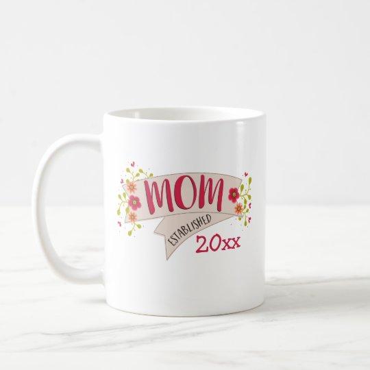 Mum Established Floral Banner Coffee Mug