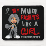 Mum Fights Like Girl 42.9 Diabetes Mouse Pads