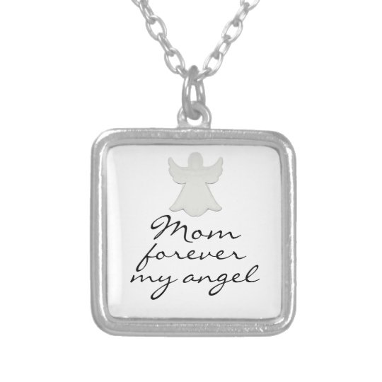 Mum forever my angle necklace
