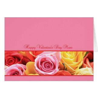 Mum Happy Valentine's Day Roses Card