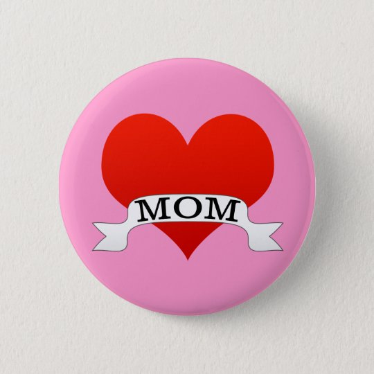 Mum Heart 6 Cm Round Badge