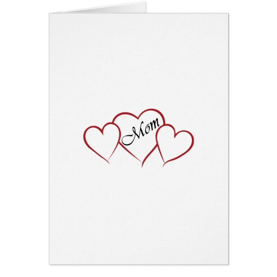 Mum Heart Outline Card