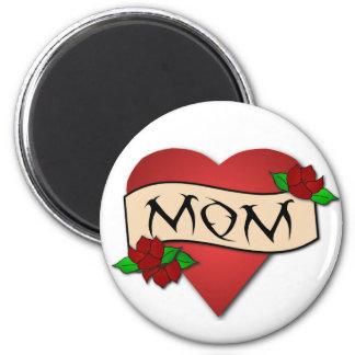 Mum heart tattoo magnet