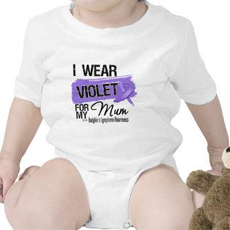 Mum Hodgkins Lymphoma Ribbon Bodysuits