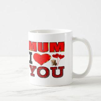 Mum I Love You Basic White Mug