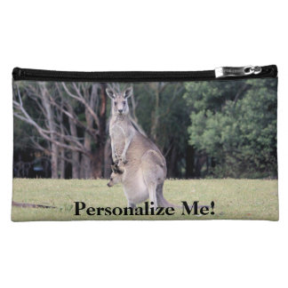 Mum Kangaroo with Baby Joey in Her Pouch Cosmetic Bag