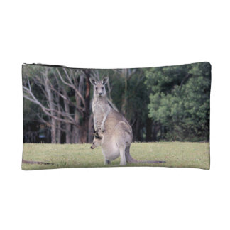 Mum Kangaroo with Baby Joey in Her Pouch Cosmetics Bags