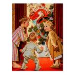 Mum Kisses Santa Claus Post Card