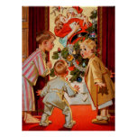 Mum Kisses Santa Claus Poster