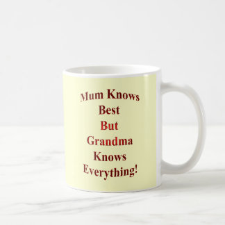 Mum Knows Best But Grandma Knows Everything! Basic White Mug