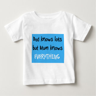 mum knows everything baby T-Shirt