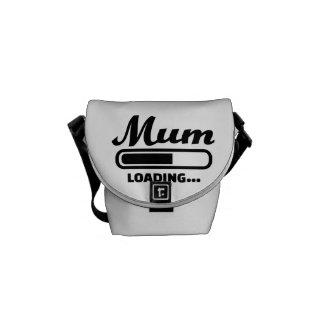 Mum loading commuter bags