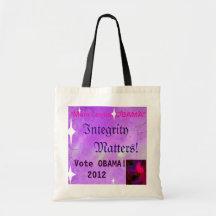 """Mum Loves Obama"" Vote Obama 2012 Tote Tote Bags"