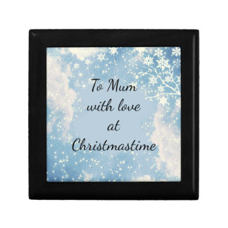 Mum / Mom with love at Christmastime Gift Box